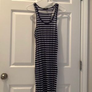 J.Crew Stripe Maxi Coverup Dress